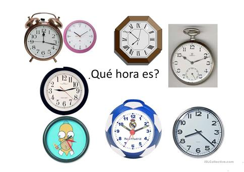 Qu Hora Es Trabajos Free Esl Projectable Worksheets Made By Teachers