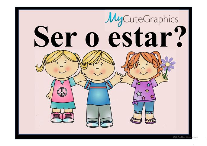 ser and estar worksheets