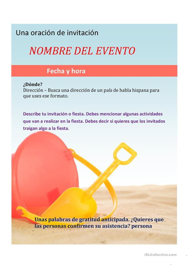 Invitación a un evento